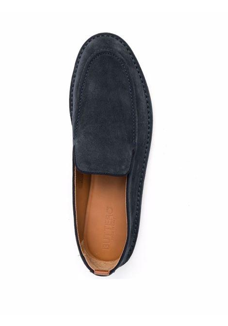 Suede Loafer Blue Man BUTTERO | Loafers | B9320GORH-UGTEMPESTA