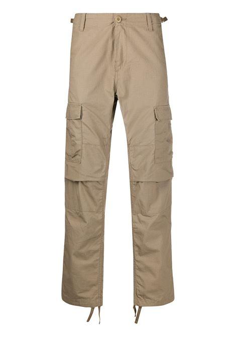 cargo pants man beige in cotton CARHARTT WIP | Trousers | I0095788Y.02