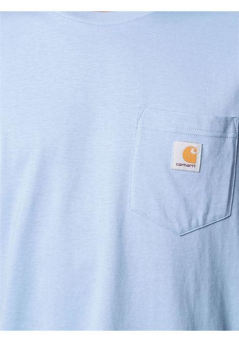 T-shirt taschino uomo azzurro cotone CARHARTT WIP | T-shirt | I022091WV.00