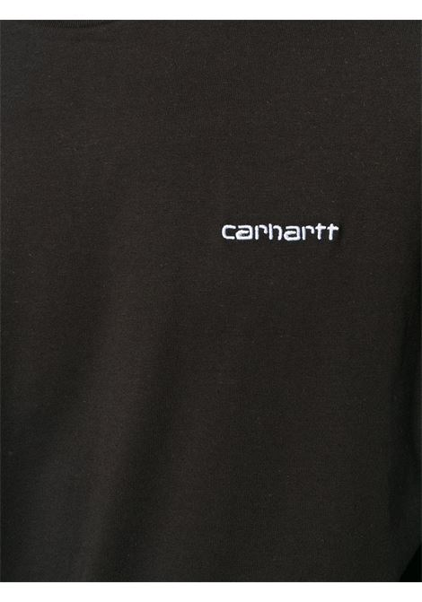 T-shirt con Logo Nera in Cotone Uomo CARHARTT WIP | T-shirt | I02577889.90