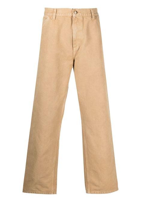 single knee pants man beige in cotton CARHARTT WIP | Jeans | I026463.3207E.WF