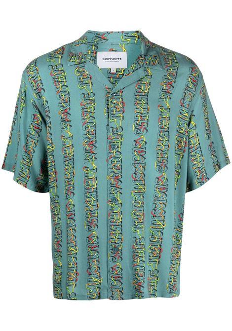 trasmission shirt man light blue in viscose CARHARTT WIP | Shirts | I0287940BG.00