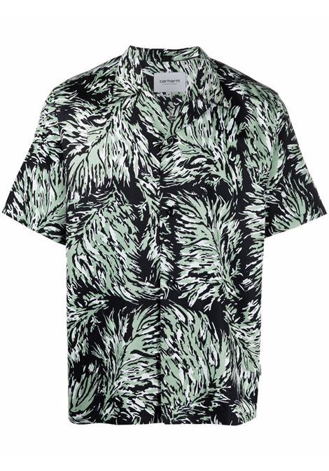 Carhartt Wip camicia dell'entroterra uomo nero CARHARTT WIP | Camicie | I0287960BK.00