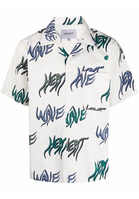 Carhartt Wip camicia con stampa uomo bianco CARHARTT WIP | Camicie | I0287990BL.00
