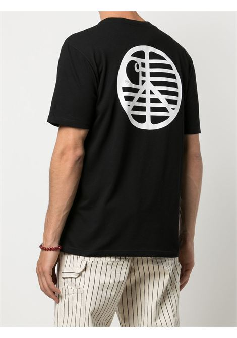 peace state t-shirt man black in cotton CARHARTT WIP | T-shirts | I02893189.90