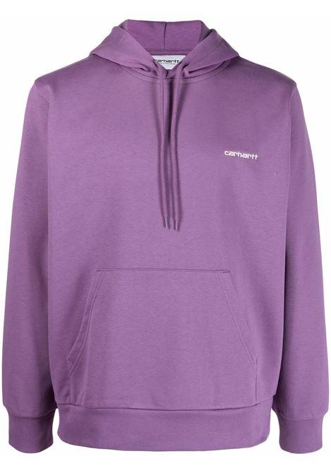Carhartt Wip script embroidery sweatshirt man purple CARHARTT WIP | Sweatshirts | I0289370AJ.90