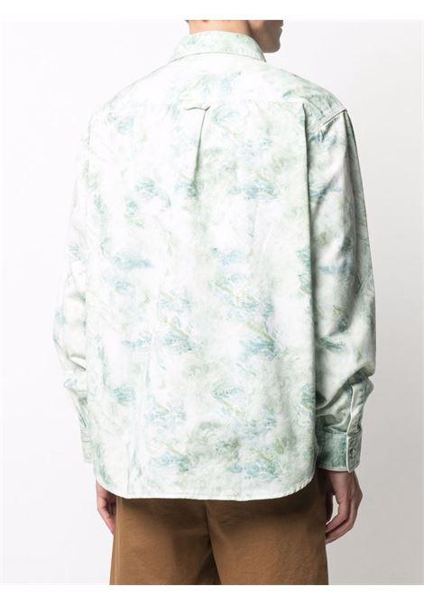 Camicia Marble Bianca in Cotone Uomo CARHARTT WIP | Camicie | I0291680DD.06