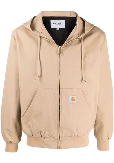 active jacket man beige in cotton CARHARTT WIP | Jackets | I02924207E.02