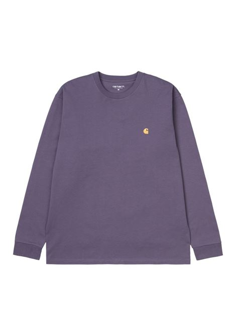 Carhartt t-shirt manica lunga chase uomo viola CARHARTT WIP | T-shirt | I026392.030AF.90