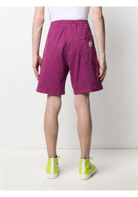 Carhartt logo shorts man violet CARHARTT WIP | Shorts | I0265180AP.GD