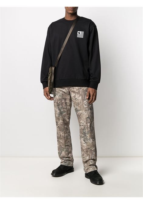 wavy state sweatshirt man black in cotton CARHARTT WIP | Sweatshirts | I02898489.90