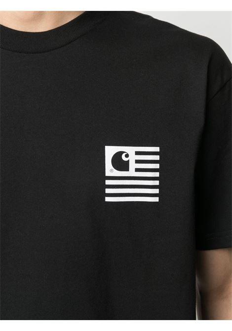 Carhartt t-shirt wavy state uomo nero CARHARTT | T-shirt | I02901189.90