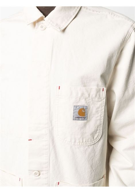Carhartt wesley jacket man white CARHARTT WIP | Jackets | I02911905.GD