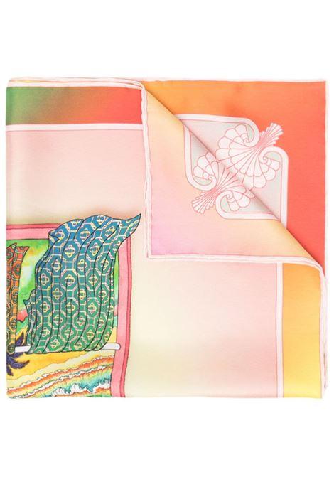 silk bandana scarf with graphic print CASABLANCA | Scarfs | AS21-SCARF-003LUCID