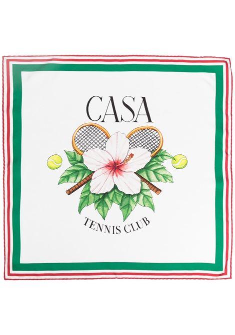 Casablanca sciarpa con stampa uomo CASABLANCA | Sciarpe | AS21-SCARF-003WHITE