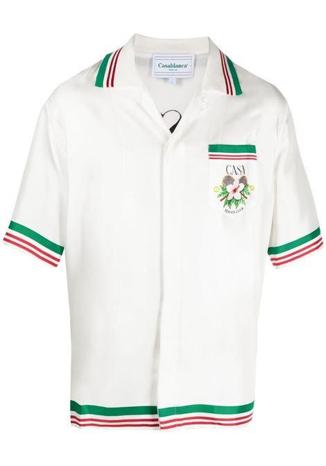 Casablanca camicia con stampa floreale uomo CASABLANCA | Camicie | M2S1-SH-014WHITE