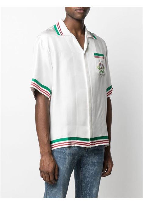 FLORAL PRINT STRIPED SHIRT CASABLANCA | Shirts | M2S1-SH-014WHITE