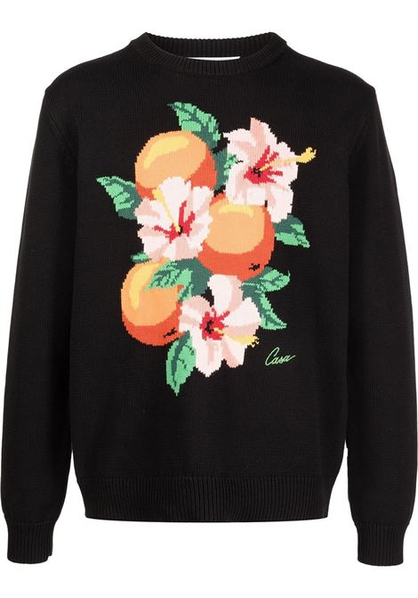 Casablanca graphic print jumper man black CASABLANCA | Sweaters | MF21-KW-064BLACK