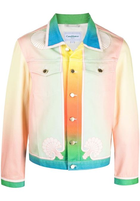Casablanca giacca con stampa uomo multicolore CASABLANCA | Giacche | MS21-JK-003DREAMS