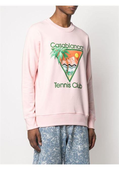 Casablanca print sweatshirt man pink CASABLANCA | Sweatshirts | MS21-JTP-001PINK
