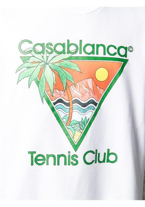 Casablanca felpa con stampa uomo CASABLANCA | Felpe | MS21-JTP-001WHITE