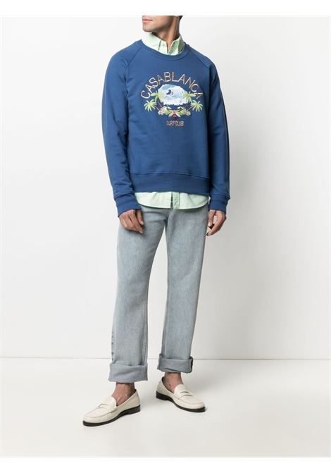 Casablanca print sweatshirt man CASABLANCA | Sweatshirts | MS21-JTP-011NAVY
