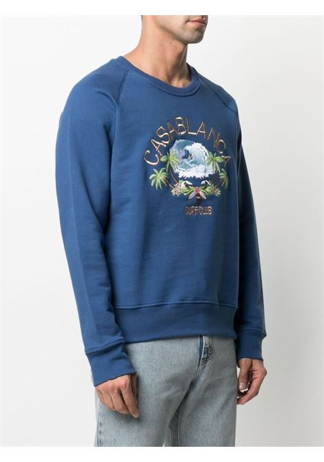 Casablanca print sweatshirt man blue CASABLANCA | Sweatshirts | MS21-JTP-011NAVY