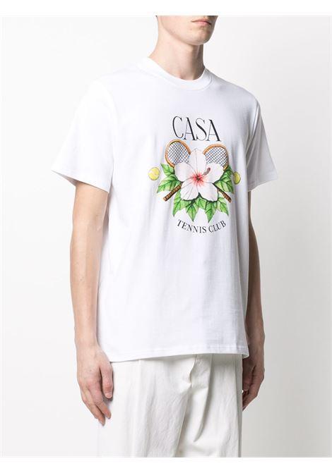Casablanca t-shirt con stampa uomo CASABLANCA | T-shirt | MS21-TS-001WHITECASATENNIS