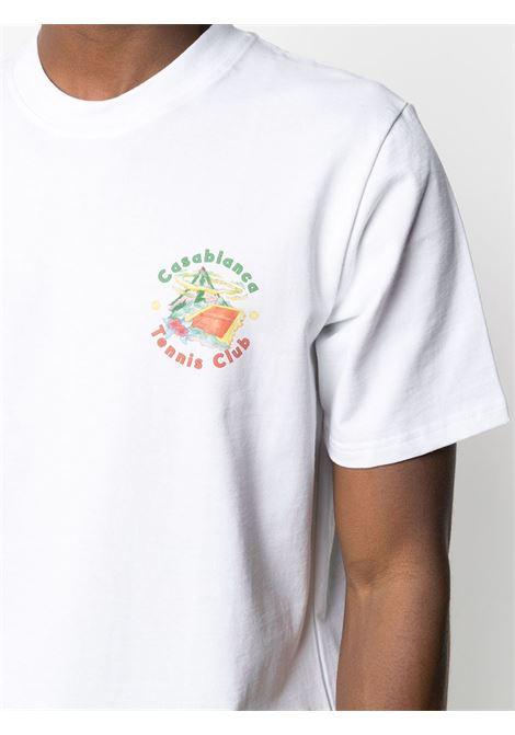 Casablanca t-shirt con stampa uomo CASABLANCA | T-shirt | MS21-TS-001WHITEC
