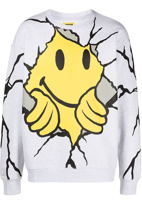 smiley dry wall breaker crewneck CHINATOWN MARKET | Sweatshirts | 1960052ASH GRAY