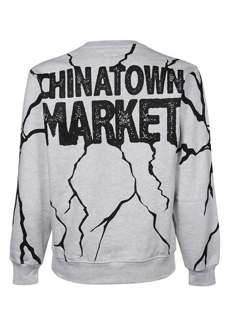 Chinatown market felpa smiley dry wall breaker uomo CHINATOWN MARKET | Felpe | 1960052ASH GRAY