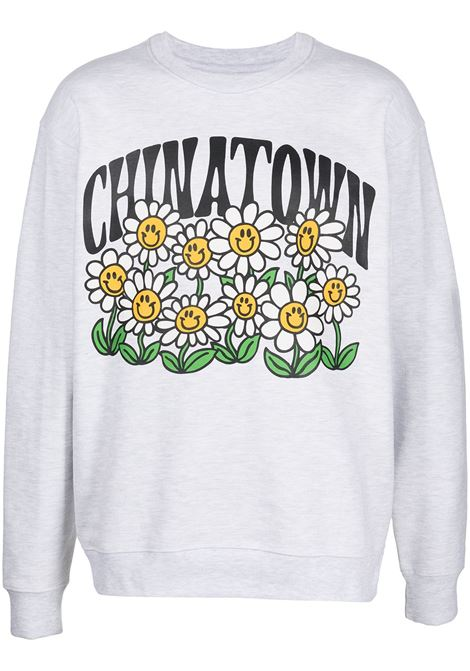 Chinatown Market girocollo smiley flower power uomo grigio CHINATOWN MARKET | Felpe | 1960066ASH GRAY