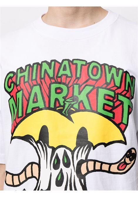 Chinatown Market t-shirt con stampa uomo bianco CHINATOWN MARKET | T-shirt | 1990448WHITE