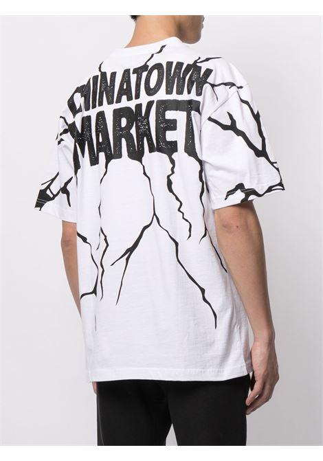 SMILEY DRY WALL BEAKER T-SHIRT CHINATOWN MARKET | T-shirts | 1990449WHITE