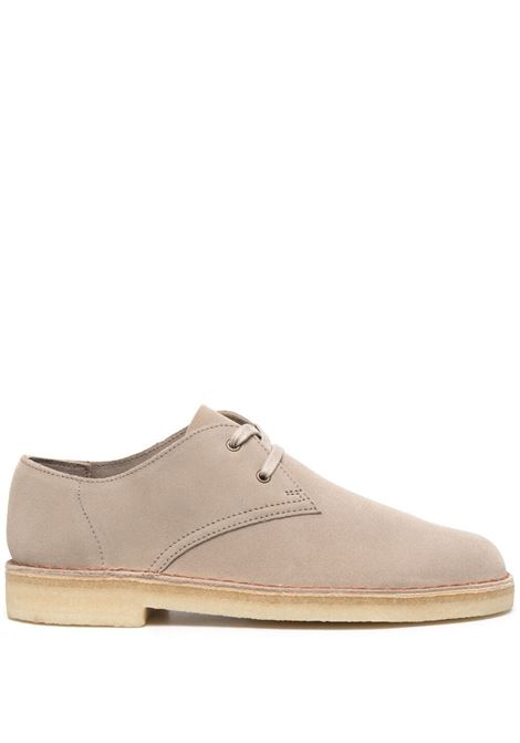 Clark Originals lace up suede shoes man beige CLARKS | Laced Shoes | 156485SAND SUEDE