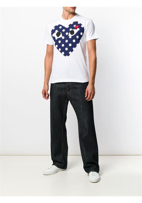 Comme Des Garçons Play t-shirt man white COMME DES GARÇONS PLAY | T-shirts | P1T234A