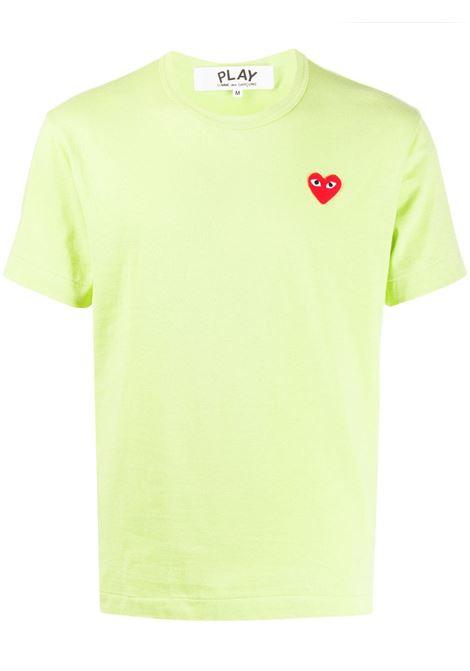 t-shirt play uomo verde chiaro in cotone COMME DES GARÇONS PLAY | T-shirt | P1T2722