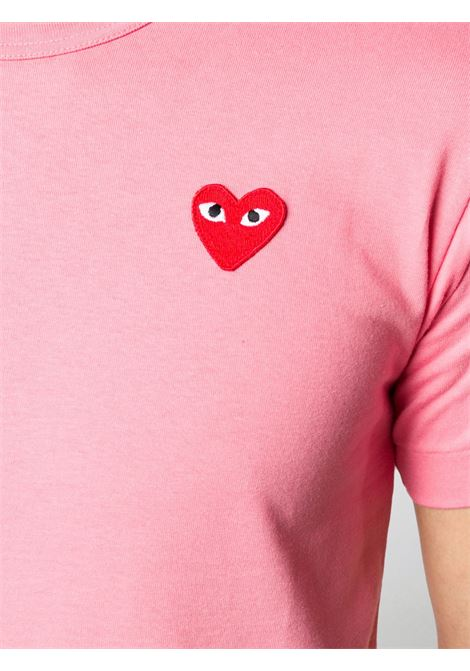 Comme Des Garçons Play t-shirt man pink COMME DES GARÇONS PLAY | T-shirts | P1T2723
