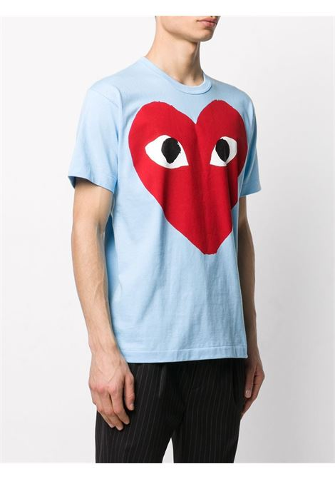 Comme Des Garçons Play t-shirt uomo azzurro COMME DES GARÇONS PLAY | T-shirt | P1T2741
