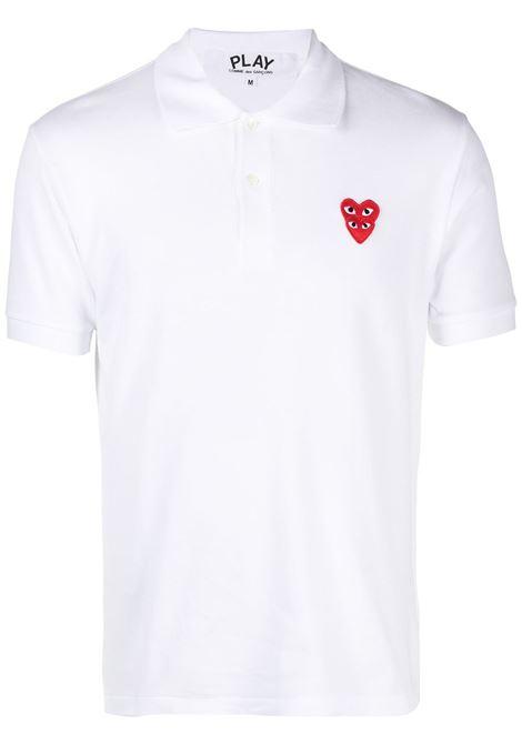 Comme Des Garçons Play polo man white COMME DES GARÇONS PLAY | Polo | P1T2902