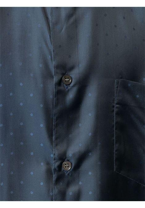Comme Des Garçons Shirt polka dot print short sleeved shirt man navy COMME DES GARÇONS SHIRT | Shirts | FG-B078BLUE