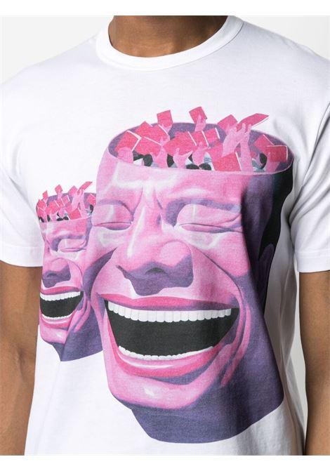 Comme Des Garçons Shirt print t-shirt man white COMME DES GARÇONS SHIRT | T-shirts | FG-T003WHITE/PRINTE