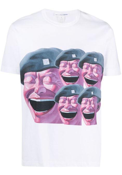 Comme Des Garçons Shirt print t-shirt man white COMME DES GARÇONS SHIRT | T-shirts | FG-T003WHITE/PRINTF
