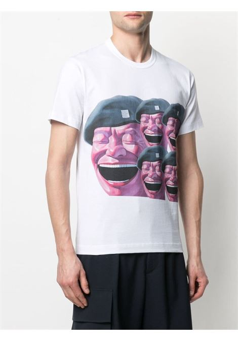 Comme Des Garçons Shirt t-shirt uomo bianco COMME DES GARÇONS SHIRT | T-shirt | FG-T003WHITE/PRINTF