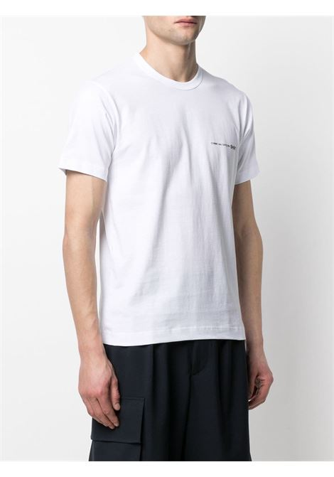Comme Des Garçons Shirt t-shirt con logo stampato uomo COMME DES GARÇONS SHIRT | T-shirt | FG-T018WHITE