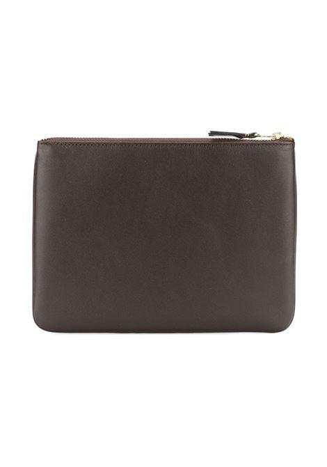 Comme Des Garçons Wallet pochette con timbro logo uomo COMME DES GARÇONS WALLET | Portafogli | SA5100801