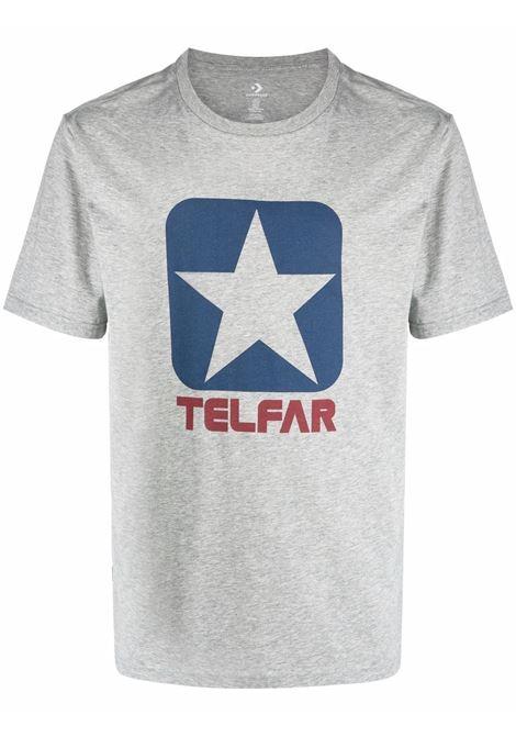 logo t-shirt man gray in cotton CONVERSE X TELFAR | T-shirts | 10022844-A02VGH