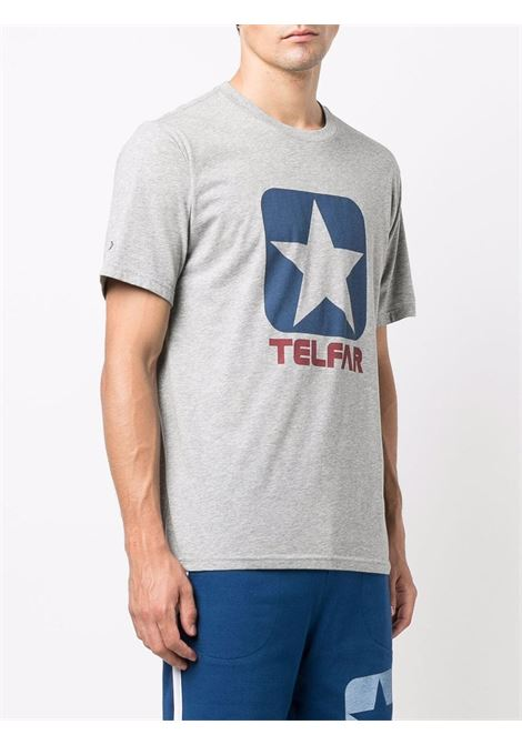 t-shirt con logo uomo grigio in cotone CONVERSE X TELFAR | T-shirt | 10022844-A02VGH