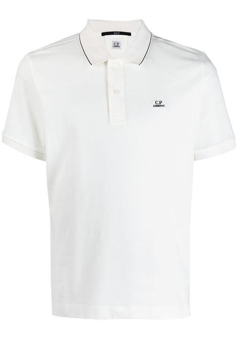 C.P. Company logo polo shirt man white C.P. COMPANY | Polo | 10CMPL040A005263W103