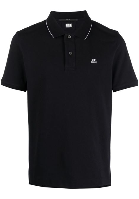 C.P. Company logo polo shirt man black C.P. COMPANY | Polo | 10CMPL040A005263W999